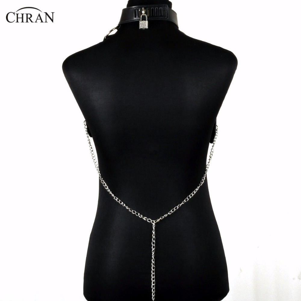 Chran Leather Harness Bondage Beach Chain Collar Goth Choker Shoulder  Necklace Jewelry Accessories Erotic Lingerie Wear CRBJ821-in Choker  Necklaces from ...