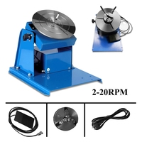 Forgelo 1Pcs 110V 15W Rotary Welding Positioner Turntable Table Mini Jaw Lathe Chuck Soldering Stations With Chuck Welding Tool