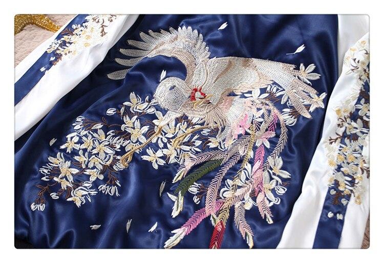 Harajuku Ricamato Stile Rivestimento Berretto Nuovo Ricamo Wear Di Uomini Delle Giacche Phoenix Giapponese Degli Two E Del 2018 Da Baseball Cappotto Yokosuka Side Donne ZftOZxq