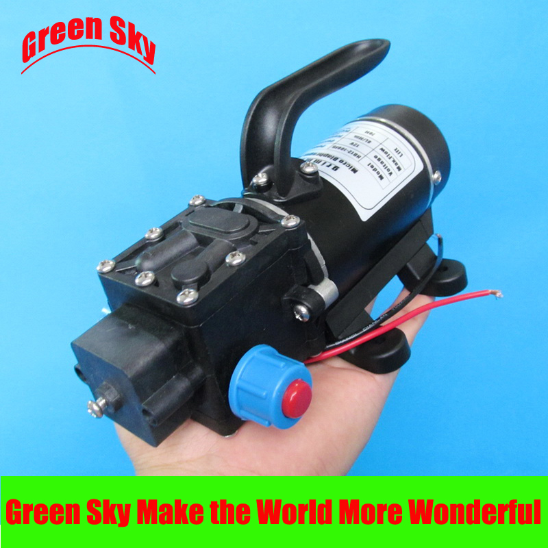 New Arrival return valve type with handle and cooling fan 8L/Min DC 100W dc diaphragm pump 12v water pump popular sale 30w small diaphragm return valve type 12v high pressure water pump