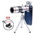 2017 Universal Microscopio Telescopio con Trípode Teleobjetivo Zoom Óptico de 18x lentes de ojo de Pez de Gran Angular Macro Para El Smartphone