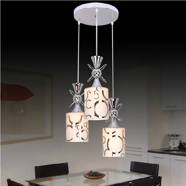 1/3 heads lamps Creative dining room three modern minimalist fashion glass pendant light dining room LED lamp lighting FG441 картридж hp inkjet cartridge black 51626a