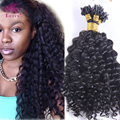 2017 High Quality Curly Micro Loop Hair Extensions Virgin Malaysian Micro Link Hair Extensions Kinky Curly Human Hair 1g/strand