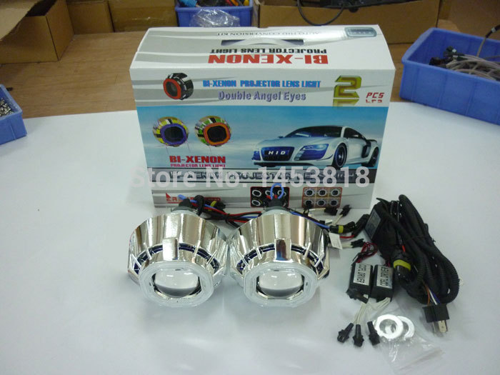 3.0HQD 3 ''pouces CACHÉ Bi Projecteur Lentille Double Ange Yeux Phare Haute Basse Faisceau H1 H4 H7 4300 K 6000 k 8000 k + 2 pièces Ballasts