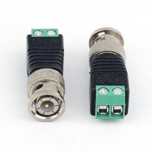 Image 2 - 10pcs 보안 액세서리 스트레이트 시스템 용접 없음 아연 합금 어댑터 비디오 커넥터 플러그 카메라 감시 Q9 BNC 남성