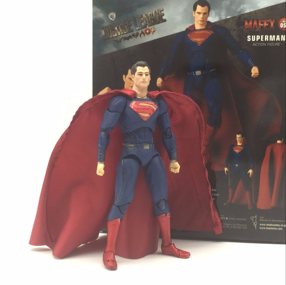 DC Justice League Super Hero MAFEX MAF Batman 056 Flash 058 Wonder Woman 048 Superman 057 Spiderman 047 Action Figure Toy Doll (7)