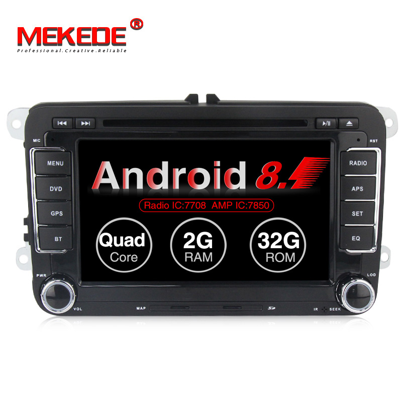 New arrival MEKEDE pure android 8 1 car multimedia sysem radio player for Volkswagen POLO PASSAT