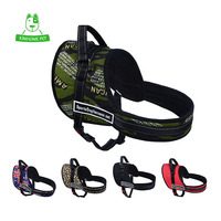 KIMHOME 7 Colors Adjustable Sport Large Dog Collar Chest Straps Traction Nylon Training Dog Harness Vest