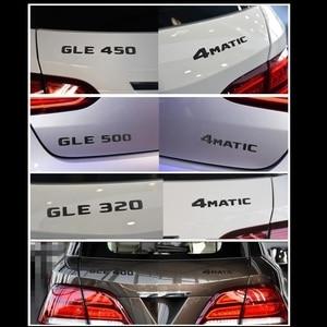 Image 2 - Черная плоская 3D наклейка эмблема W176 W177 A45 A180 A200 A250 Автомобильные буквы задняя звезда багажника 4matic Эмблема для Mercedes Benz AMG