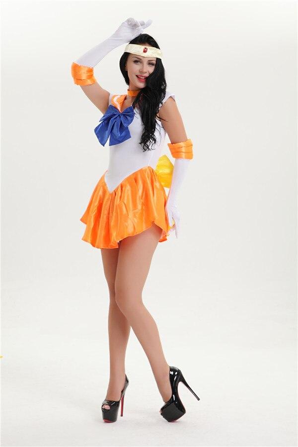 pulsuz çatdırılma Sailor Moon Mars Mercury Jupiter Venera Kostyum - Karnaval kostyumlar - Fotoqrafiya 4