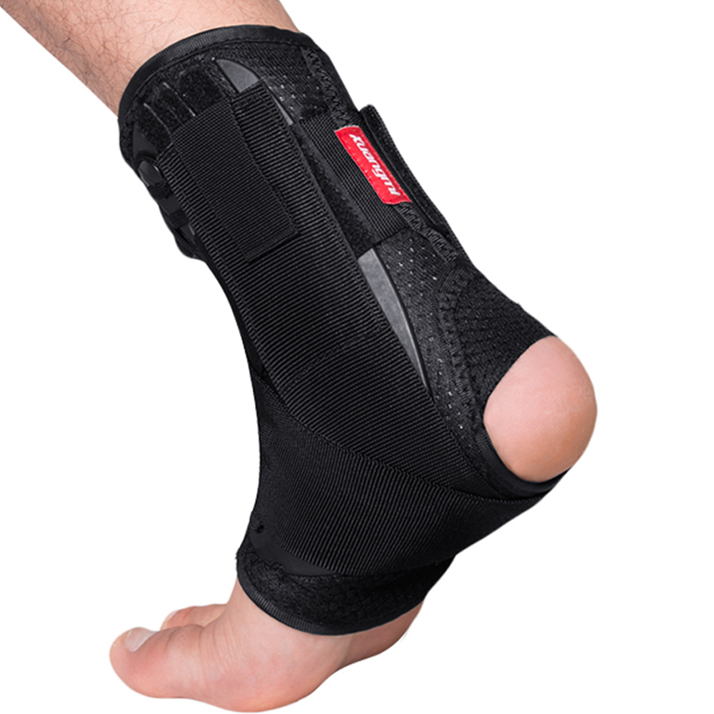 Kuangmi Ankle Brace Dukungan Olahraga Adjustable Ankle Straps Foot Stabilizer Orthosis Football Kompresi Ankle Socks Protector