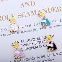 Alice Lovely Enamel Charms Pastel Color Enameled DIY Bracelet Necklace Jewelry Accessory Craft 10pcs 11x18mm