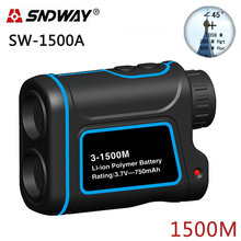 Big discount SNDWAY Laser rangefinder hunting monocular telescope 1500M golf trena laser meter distance measure speed/Height/angle
