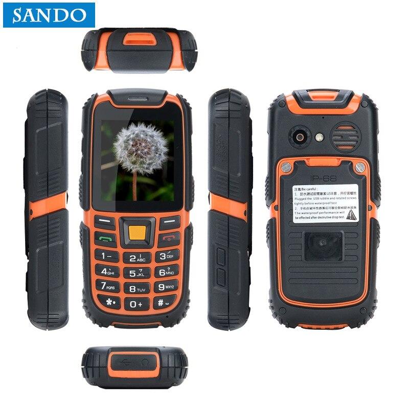 Gros Jeasung S6 Mini Robuste Personnes Âgées Téléphone Grand Haut-Parleur Double SIM Longue Attente batterie. Multi-Langue avec Clavier Russe