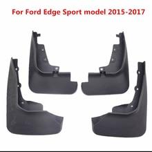4Pcs For Ford Edge Sport Model Black Front Rear Molded Car Mud Flaps Splash Guards Mudguard Mudflaps Fenders