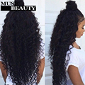 Grace 10A Brazilian Kinky Curly Virgin Hair With Closure 3/4 Bundles With Closure Brazilian Curly Weave Human Hair With Closure