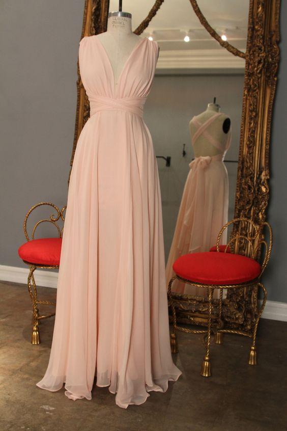 2017 Cheap Elegant font b Bridesmaid b font font b Dress b font A line V