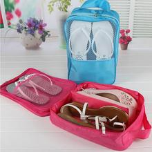 2 Layer Travel Storage Bag Nylon Mesh 4 Colors Portable Organizer Bags Shoe Sorting Pouch Hot Sale