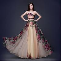 2017 Korea Marka Kobiety Moda Sexy Wysoka Talia Bez Ramiączek W Stylu Vintage Plus Size Ślub Wieczorem Prom Celebrity Formalna Party Długa Sukienka