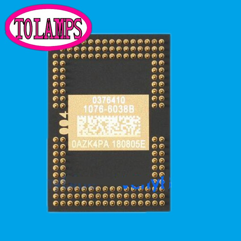 100% NEW AND ORIGINAL Projector DMD CHIP 1076-6038B 1076-6039B for D ell 1410X / D ell 1510x With Good Tested  genuine original computers batteries new for d ell adamo 13 battery n572j p715m k742j cn 0k742j black and silver 6cell