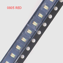 10pcs/lot Small red lamp beads 0805 SMD LED 0805 RED Light-emitting diodes Free Shipping(China (Mainland))