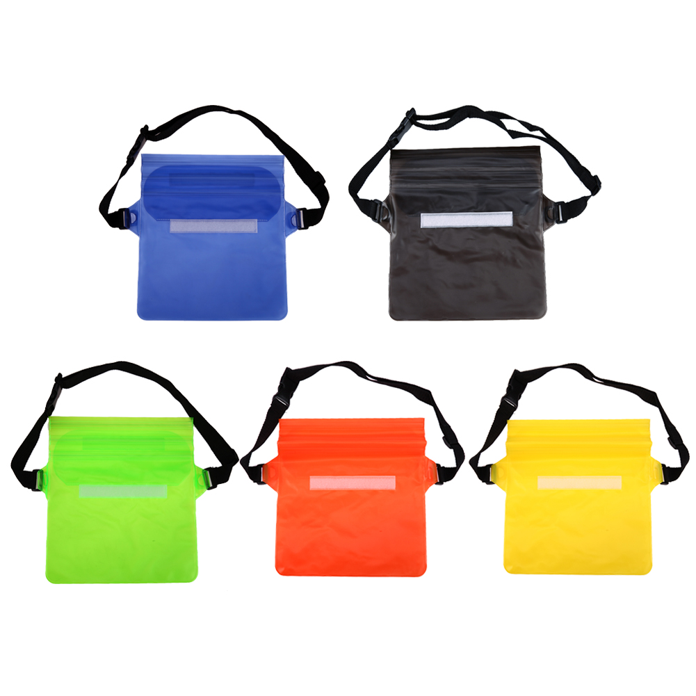 ALLOET Tri-Layer Sealing Cover Phone Tablet Waterproof Case Storage Bag PVC Rafting Shoulder Waist Bag For iPhone Samsung Xiaomi