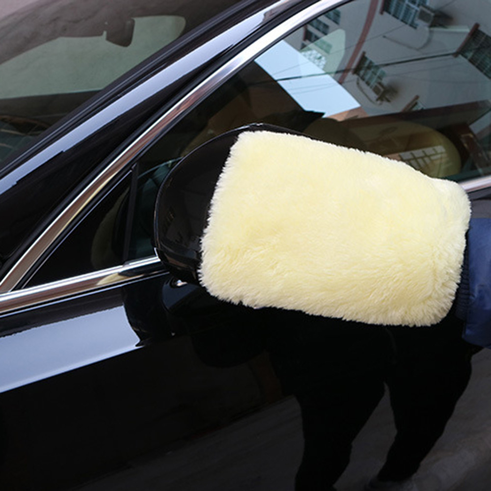Dashing Shunwei Car Easy New Microfiber Plush Mitt Car Wash Mitten Popular Washing Glove Cleaning Brush Tools Dropship N Rearview Mirror Cover