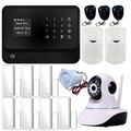 Freeship wifi GSM Home Security Alarm System,GSM Alarm System Wth Wifi Function,Alarm System With IP Camera