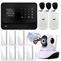 Freeship wifi GSM Sistema de Alarme da Segurança Home, Sistema de Alarme GSM Wth Função Wi-fi, Sistema de Alarme Com Câmera IP