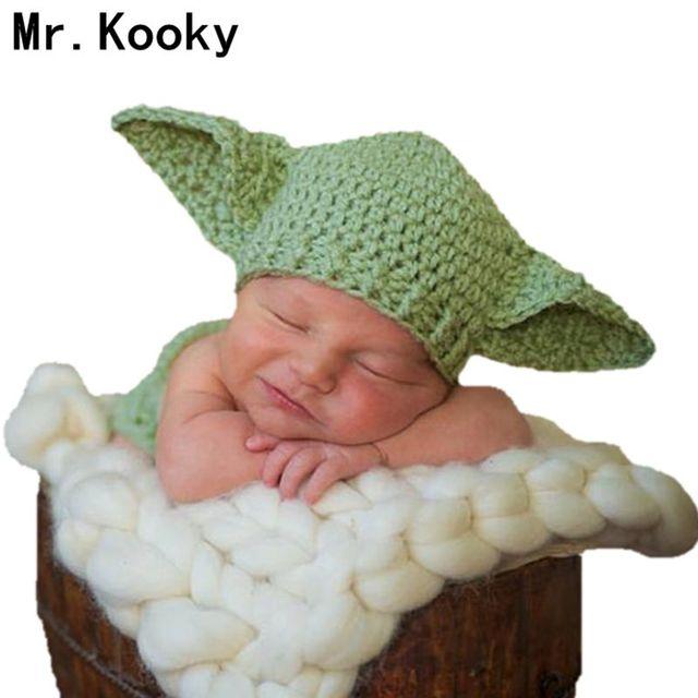 Mr. kooky Yoda sombrero mano de bebé recién nacido del ganchillo del ...