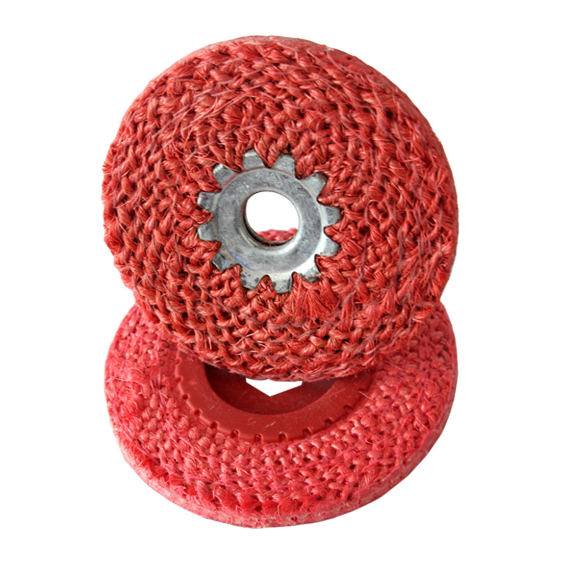 Red Hemp Rope Buffing Wheel For Stainless Steel Metal Coarse Grinding Angle Grinder Polishing Tool 100MM