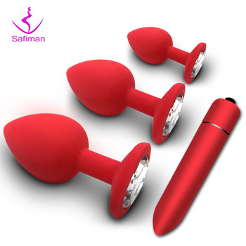 Soft Silicone Anal Butt Plug Prostate Massager Adult Gay Products Anal Plug Mini Erotic Bullet Vibrator Sex Toys for Men Women gelugee sex toys anal plug silicone vibration massager g spot vibrator for women sex toys for men butt plug erotic toy for adult