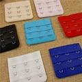 (3pcs/lot ) 3 Rows 3 Ladies women Bra Extenders Nylon Clasp Strap useful Bra Strap Extender 7 Colors