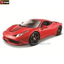 цена на Bburago 1:18 Ferrari 458 car model 1 18 simulation alloy original Rafa sports car model super running car model gift