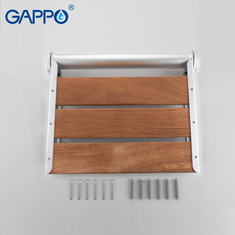 Gappo Wall Mounted Shower Seats Alumimum alloy Disabled Elderly bath ...