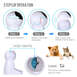Image 4 - Iseebiz Update 3L Pet Feeder Wifi Remote Control Fashion Smart Automatic Pet Feeder Dogs Cat Food Rechargable With Video Monitor