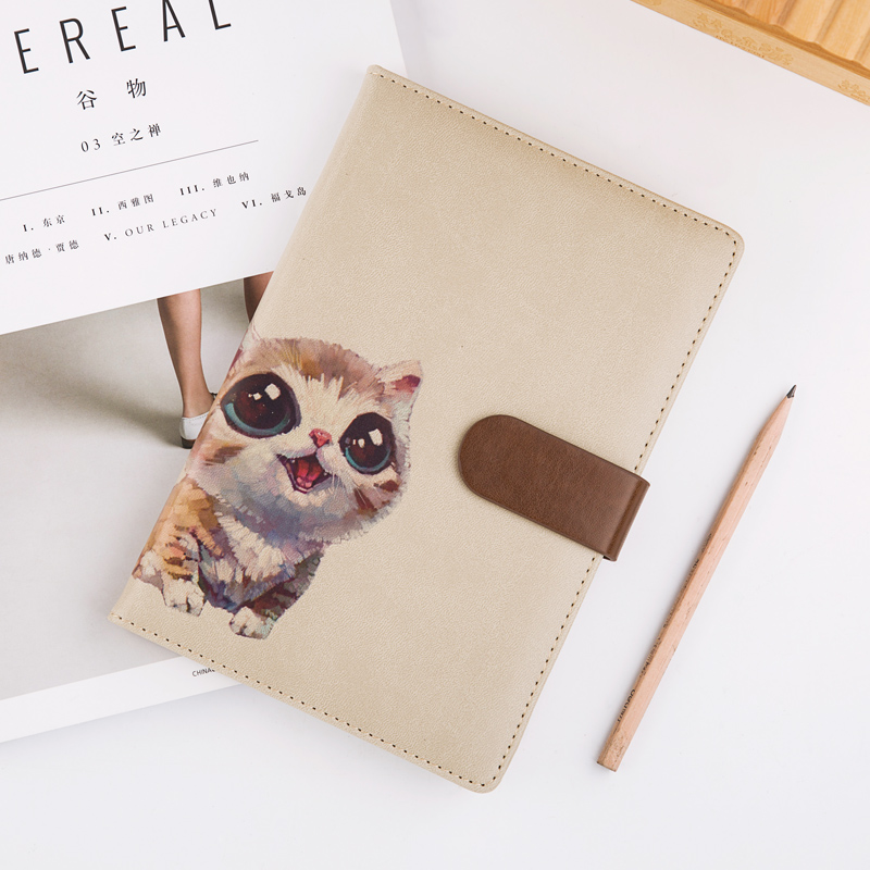 Magnetic Buckle Office Notebook Stationery School Notebook Planner Daily Weekly Planner Cute Animals Diary Bullet Journal Defter a5 cute notebook planner school stationery diary hobonichi cover daily weekly planner agenda travelers notebook bullet journal