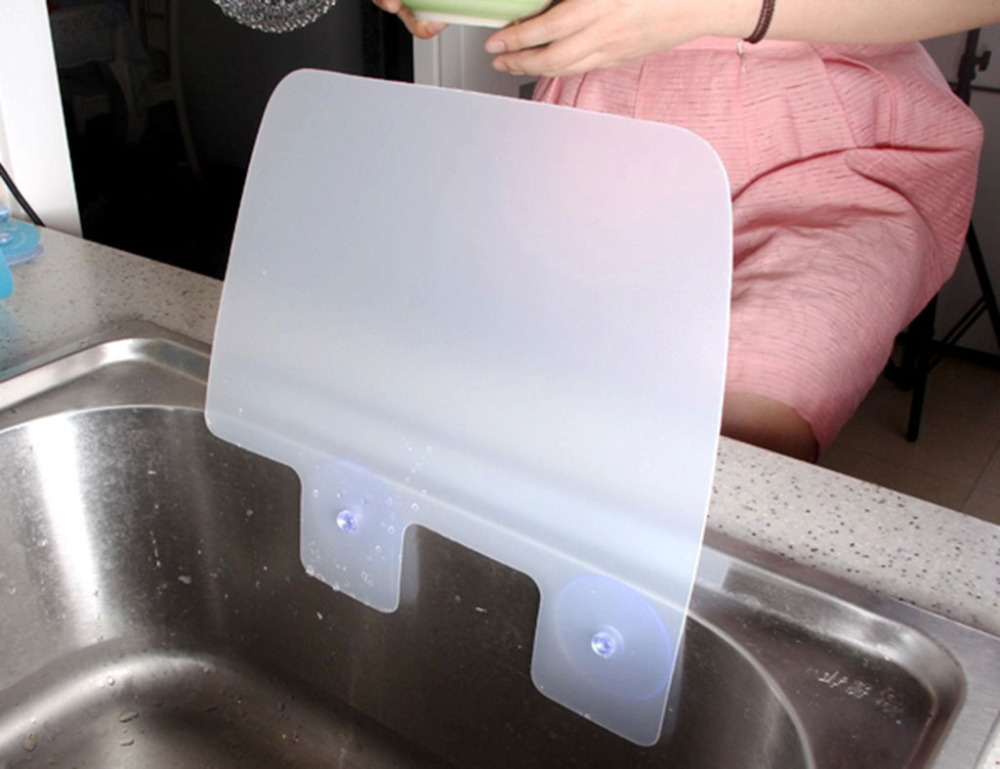 Online Shop Creative Kitchen Sink Splash Water Tank Water Retaining Plate  To Prevent The Wet Clothes | Aliexpress Mobile