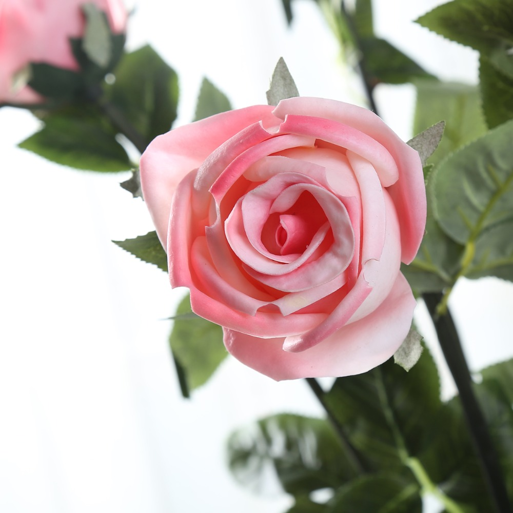 24.8\'\'PU Roses Wholesale Cheap Real Touch Artificial Flowers 6 ...