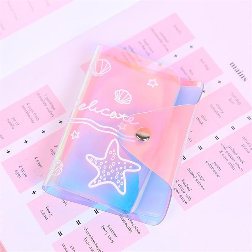 Pocket, Laser, Card, Case, PVC, Women