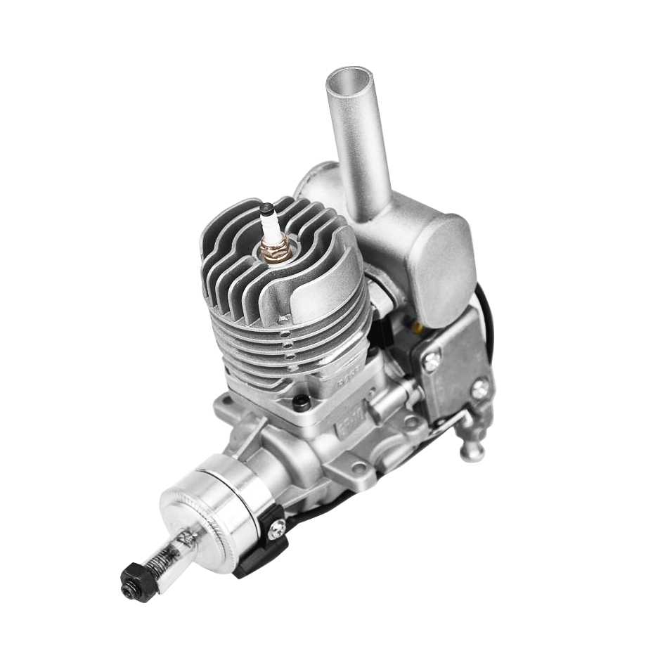 RCGF 10cc Petrol / Gasoline Engine w/ Rear Exhaust Pipe for RC Model Airplane dla116 inline cnc processed inline gasoline engine petrol engine 116cc for gas airplanes with double cylinders