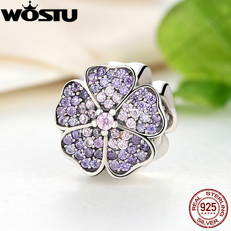 Luxury 100% 925 Sterling Silver Sparkling Primrose Charm Fit Original wst Bracelet Pendants Authentic DIY identical Jewelry dhl free wp90 50m industrial pipeline endoscope 6 5 17 23mm snake video camera 9 lcd sewer drain pipe inspection camera system