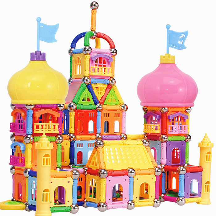 L&Y 468pcs/lot castle magnetic stick toy rod Magic Building Blocks Enlighten Construction Brick Educational Toys for Children mtele brand 62 pcs pcs magnetic tiles designer construction kids educational toys creative bricks enlighten toy