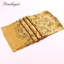 [DANKEYISI] роскошный брендовый длинный шарф из чистого шелка, Мужской дизайнерский шарф, мужской шарф на шею, высококачественный хиджаб с принтом