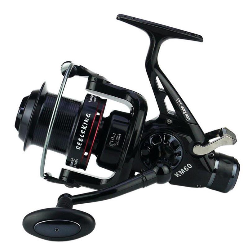 New build KM50/60 black 11BB Brake Fishing Reel G Ratio 5.2:1 fly fishing reel Carp Feeder Spinning Fishing Reels-in Fishing Reels from Sports & Entertainment    1