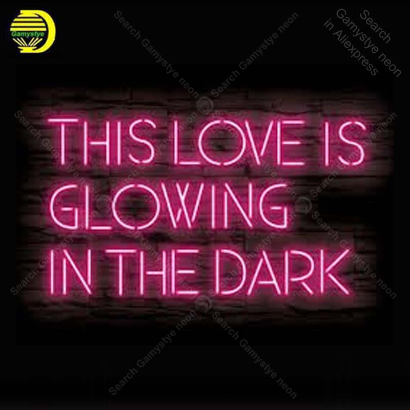 Неоновая вывеска для этой любви светится в темноте, неоновая лампа, вывеска для творчества, ресторана, дома, неоновая вывеска, настенная све