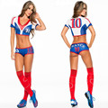 No. 10 football-girl  football clothesCHEER Set ,Athletic Gym Dance Sport Women kit,cheering squad suit :Top+short,Freeshipping