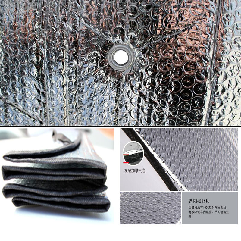 CDCOTN Car Sunshade Aluminum Foil Universal Portable Car Side Window Sun Block Car Windshield Car Accessories