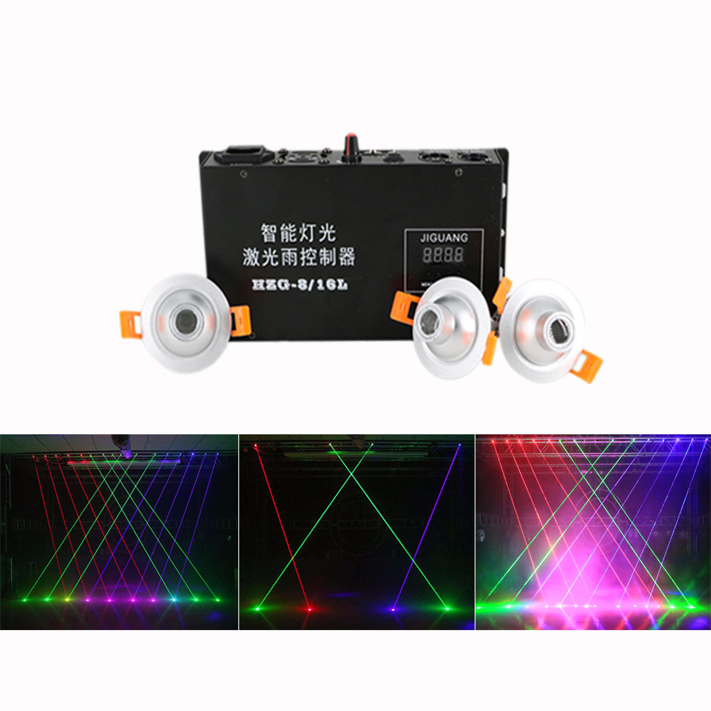 Red Green Blue Beam Projector Line Laser Curtain Controller 8 Channels DMX 12CH DJ Party Show Stage Lighting Free Collocation Сценическое освещение