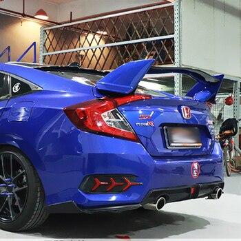 Для Honda 2016Civic RALLYE красный задний спойлер на крыше ABS Материал заднее крыло автомобиля праймер цвет задний спойлер для Honda Civic 2017